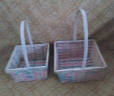 Decorative Squared Wicker Baskets Set of Two