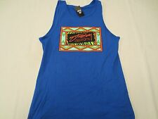 STUSSY DESIGNS BOX TANK Tank Top Shirt BRITE BLUE Mens Size LARGE L NWT