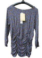 NWT Laura Ashley Ladies Roched Waist 3/4 SleeveTop Blouse Size XS