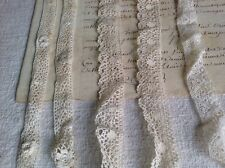 Vintage White Laces Trim 3pc Irish & Midland Laces Dolls & Vintage Wedding