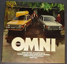 1978 Dodge Omni Catalog Sales Brochure Excellent Original 78