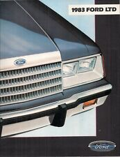 Ford LTD 1983 USA Market Sales Brochure Sedan Brougham Wagon