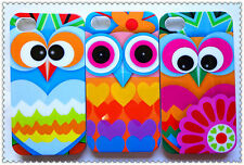 Wholesale 3pcs New Colorful Lovely Owl for iphone5 5s case Hard Cover Skin