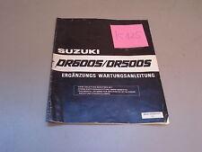 Suzuki DR 600 S / DR 500 S ergänzende  Wartungsanleitung Nachtrag
