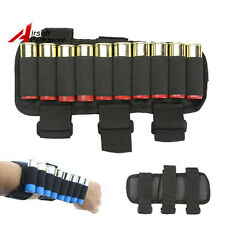 Tactical Hunting 10 Round Shotgun Shell Bandolier 12 Gauge Ammo Holder for Arm