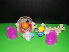 Fisher Price Little People Castle princes chairs bolder fence and a knight