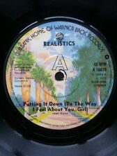 """Realistics - Putting It Down (To The Way I Feel About You Girl) UK 7"""" Warner"""
