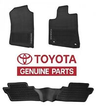 Genuine Toyota Tundra 2016 Crewmax Factory All Weather Rubber Floor Mats OE
