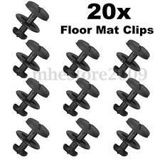20Pcs Black Floor Carpet Mat Clips Washers For BMW E36 E46 E38 E39 82119410191