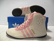 ADIDAS MARY JANE MID SNEAKERS WOMEN SHOES WHITE/PINK 549437 SIZE 8.5 NEW