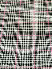 B062 - VISCOSE Elastane Black White Pink Check Print Jersey Stretch Sew Fabric