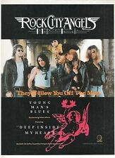 ROCK CITY ANGELS UK magazine ADVERT/Poster/clipping 11x8 inches