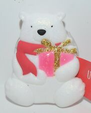 NEW BATH & BODY WORKS WHITE POLAR BEAR SHOWER SPONGE LOOFAH HOLDER HOOK HANGER