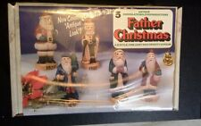 Wee Crafts Father Christmas 3-D Style Pre-Cast Set Five Santa Paintable Santa