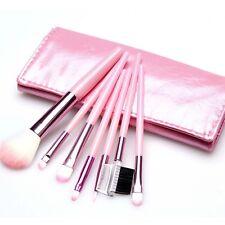 7 pcs Makeup Brushes Set Foundation Eyeshadow Eyeliner Blusher Leather Case DP