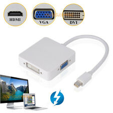 Thunderbolt to DVI VGA HDMI HDTV Adapter 3in1 for MS Microsoft surface pro 3 2 1