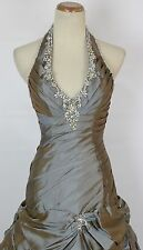 Paparazzi by Mori Lee Copper $500 Size 6 Halter Ball Long Gown Prom Formal Gown