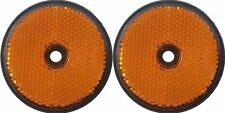 A pair of trailer and truck reflectors round screw on 2 x amber Pt no. LMX1631