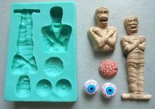 Silicone Mould HALLOWEEN MUMMY Sugarcraft Cake Decorating Fondant / fimo mold