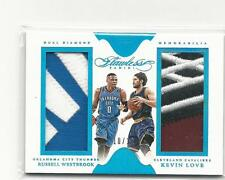2015-16 PANINI FLAWLESS DUAL DIAMOND RUSSELL WESTBROOK KEVIN LOVE DUAL #10/10