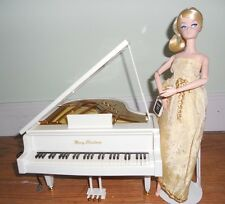 Christmas Music Box Baby Grand Player Piano Collectible or Barbie Doll Furniture