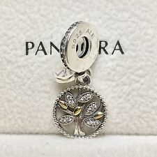 Charm Plata de Ley ÁRBOL FAMILIAR Genuine Pandora Box ALE S925