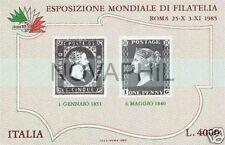 1985 ITALIA FOGLIETTO PENNY BLACK Nuovo **
