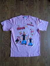 Popeye the Sailor Man Womens Cartoon Pink T-Shirt Size 160 Small NWOT