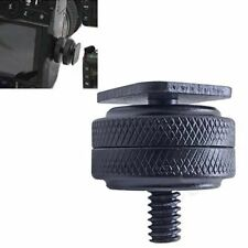 "1/4"" Dual Nuts Tripod Mount Screw to Flash Digital Camera Hot Shoe Adapter Tool"