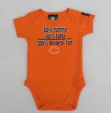 NFL Chicago Bears Short Sleeve Bodysuit 50% Mommy + 50% Daddy 3-6 Months