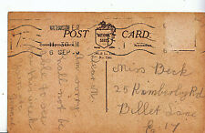 Genealogy Postcard - Family History - Beck - Billet Lane - London E 17  A1357