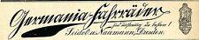 SEIDEL & NAUMANN DRESDA GERMANIA-BICICLETTE storica la pubblicità di 1903