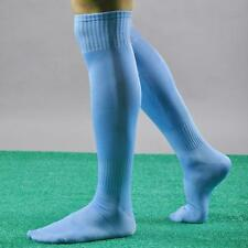 New Mens Boys Sports Football Soccer Plain Long Socks Cotton Over Knee High Sock