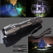 5000LM Zoomable CREE XM-L T6 LED Flashlight Torch Light Lamp 26650 Holster New