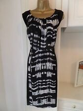 GEORGEOUS UNLINED COTTON & CHIFFON DRESS BY BHS IN VG CON SIZE UK 16 BUST 42""