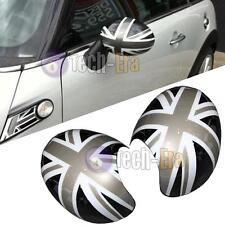 MINI Cooper R55 R56 R57 R60 Union Jack WING Mirror Covers for Manual Fold Mirror