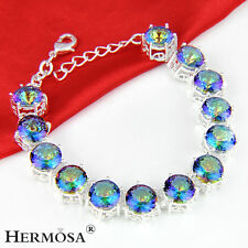 Special Offer Rainbow Mystical Fire Topaz 925 Sterling Silver Bracelets Gifts 8""