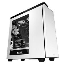 NZXT h440 Gloss White ATX Gaming USB 3 PC Custodia Con Finestra Laterale & ventole di raffreddamento