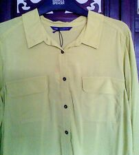 Marks & Spencer Collection Women's Chartreuse Long Sleeve Size 14