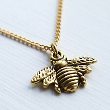 Gold Bumble Bee Necklace Bumblebee Charm Pendant Jewellery Ladies Emma Lou