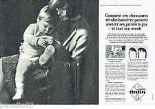 PUBLICITE ADVERTISING 046  1966  les chaussures bébé Tintin (2p)