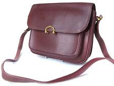 Auth CARTIER Cartier Must De Vintage Bordeaux Cross- Body Shoulder Bag CS13987L