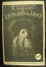 LIBRO ANTICO-IL ROMANZO DI LEONARDO DA VINCI-DEMETRIO MEREZKOWSKY-VOL. II°- 1933