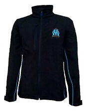 Mens XXL OLYMPIQUE MARSEILLE Softshell Jacket Football Water Resistant Coat 25