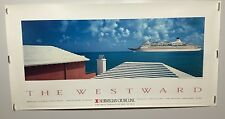 Original NORWEGIAN CRUISE LINE  ADVERTISING Travel POSTER The Westward
