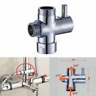 Chorme Shower Diverter Valve 3 Way Water Segregator For Thermostatic Bar Mixer