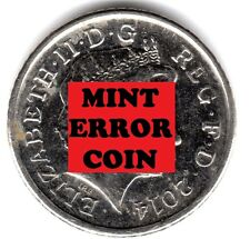 2014 5P COIN SHIELD ** ERROR MULE ** FIVE PENCE blobs / lumps on both sides b