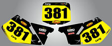 Custom Number Plates for Suzuki RM 125 & 250 1999 / 2000 BARBED style stickers