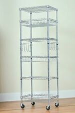 6 Tier Multi-Purpose Wire Storage Rack - Chrome - 18x24x72