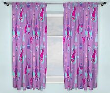 NEW TROLLS MOVIE DESIGN PAIR OF CURTAINS - GIRLS KIDS BEDROOM - 66 x 54 Inch